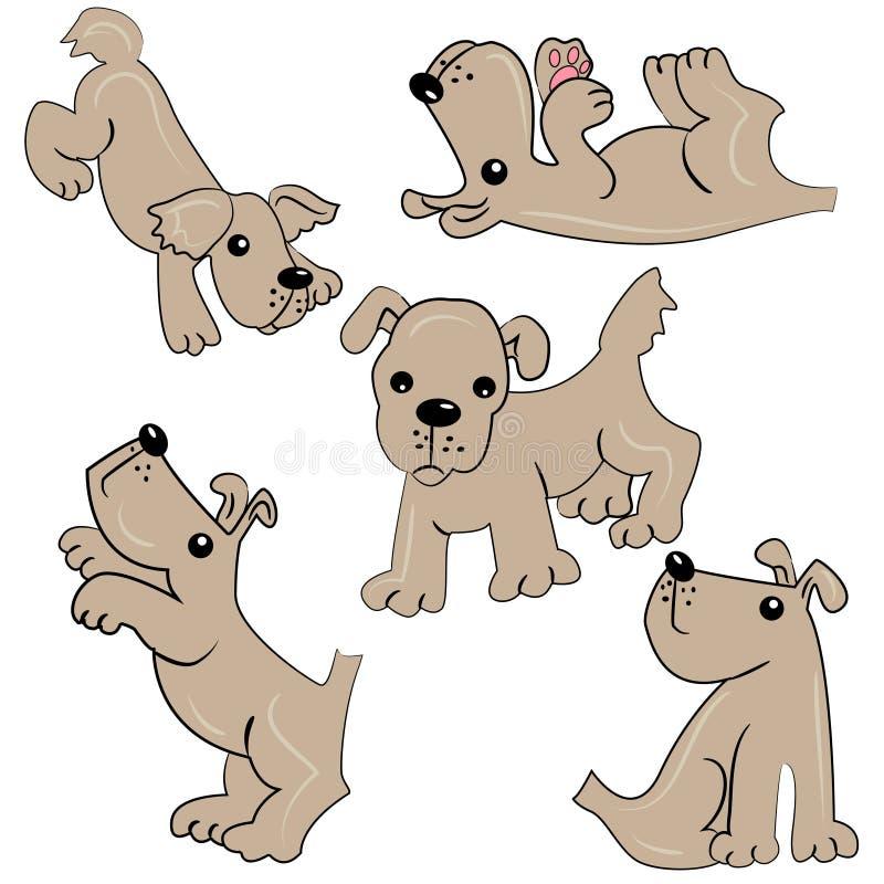Любимчик шаржа. щенок animal.cute иллюстрация штока
