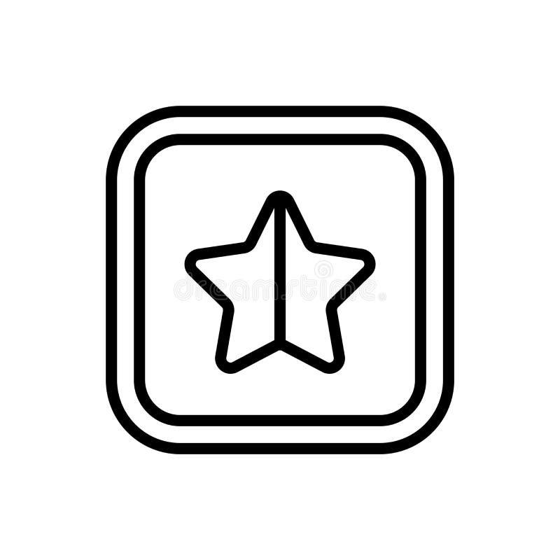 Любимый знак и символ вектора значка звезды изолированные на белой предпосылке, любимой концепции логотипа звезды иллюстрация штока