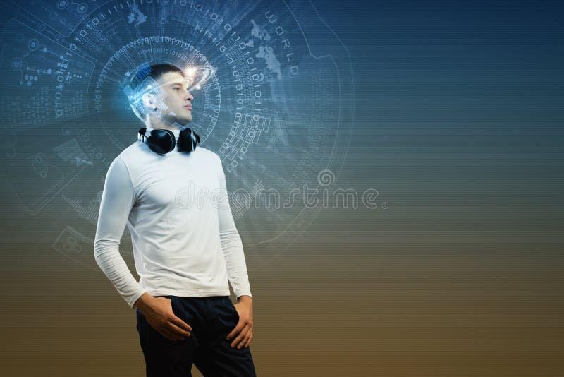 Download Любитель музыки стоковое фото. изображение насчитывающей самомоднейше - 41650030