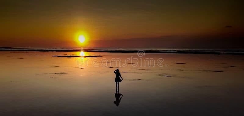 Любовники захода солнца! стоковое изображение