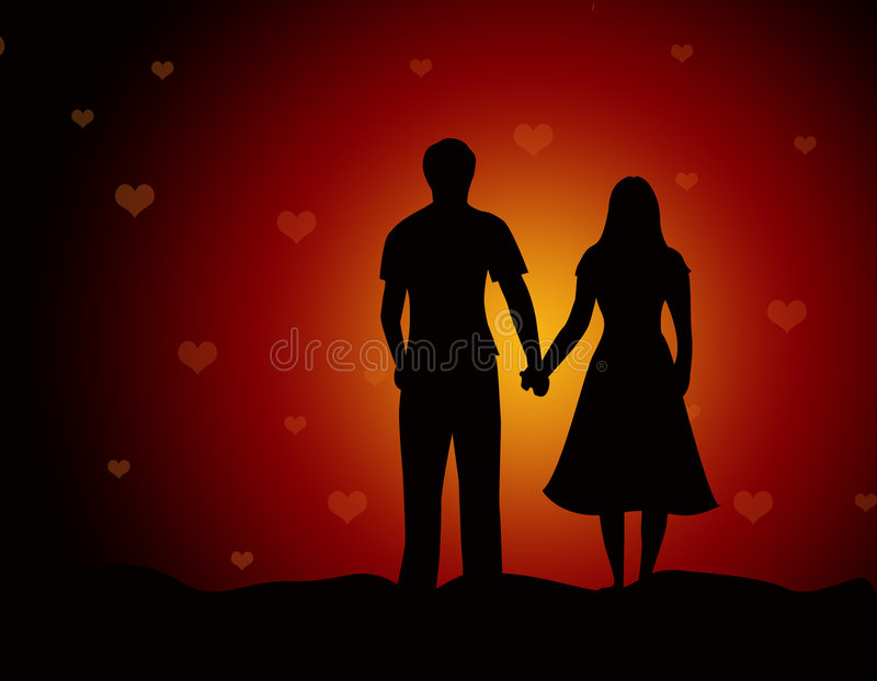 любовники пар пляжа совместно гуляя бесплатная иллюстрация