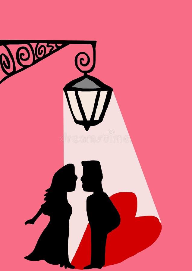 Download Любовники под уличным фонарем Иллюстрация штока - иллюстрации насчитывающей желания, приветствие: 37926623