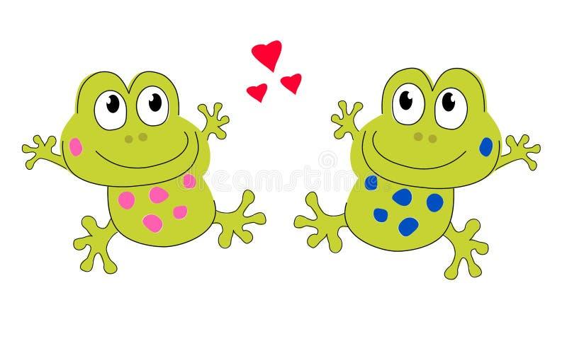 Любовники лягушки иллюстрация вектора