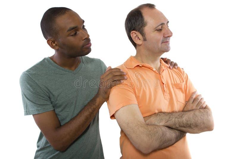 Любовники Quarrell гомосексуалиста стоковые изображения