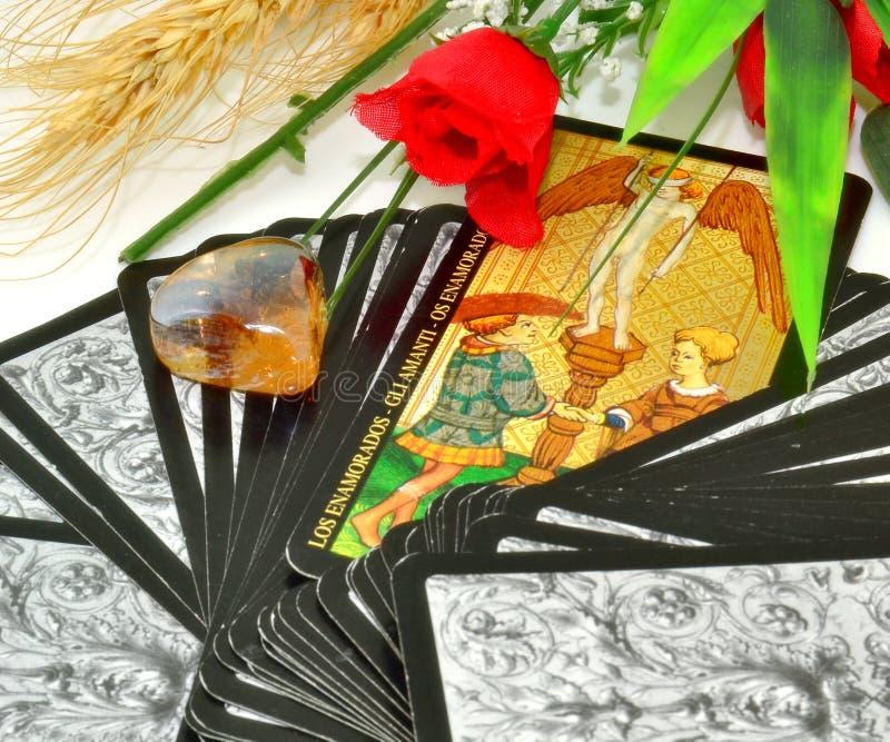 Любовники Tarot стоковые фотографии rf