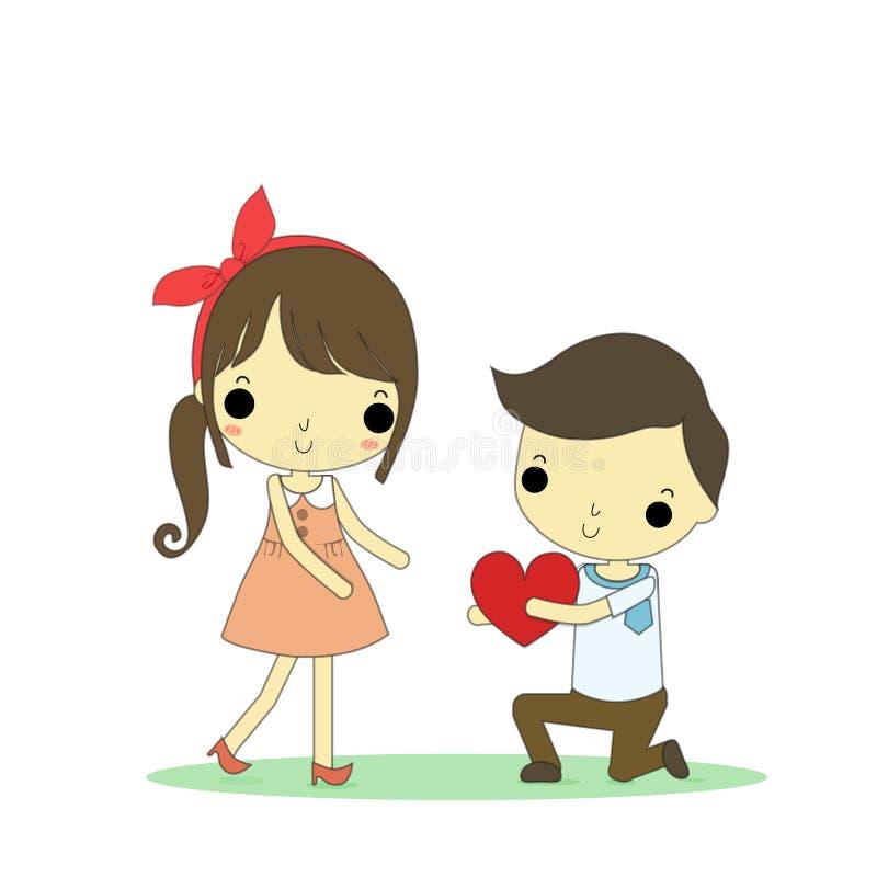 Любовник дает влюбленность иллюстрация вектора