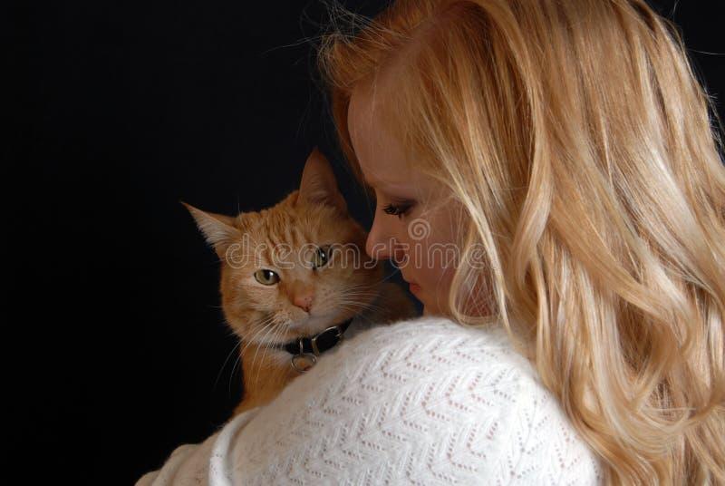 любовник кота стоковые изображения rf