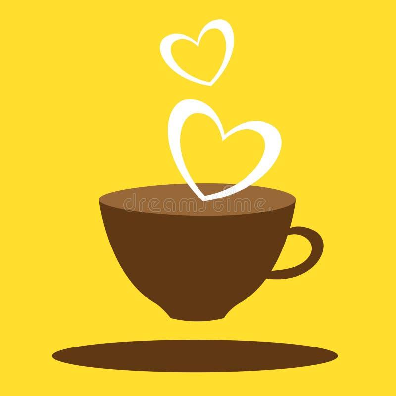 Любовник кофе иллюстрация штока