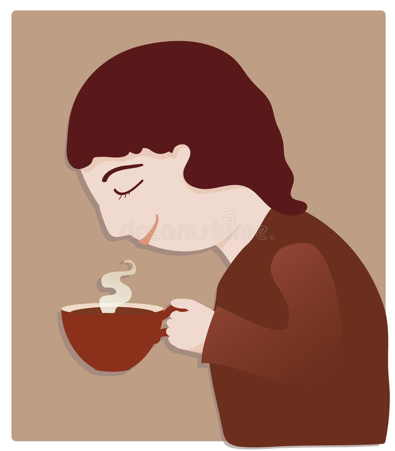 Любовник кофе бесплатная иллюстрация