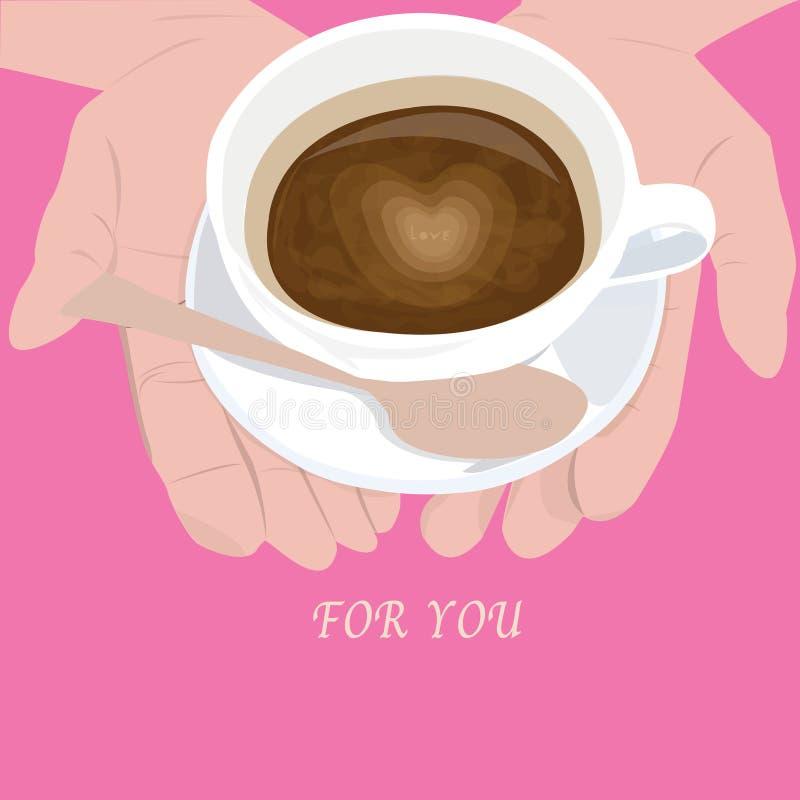 Любовник кофе иллюстрация вектора