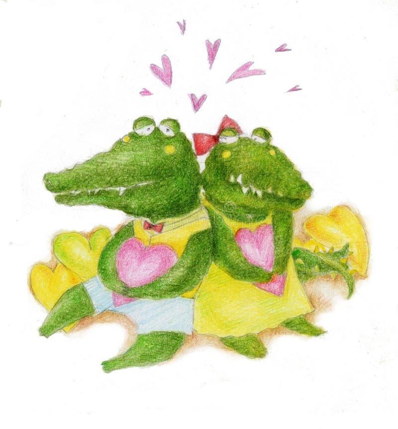 любовник крокодила иллюстрация вектора