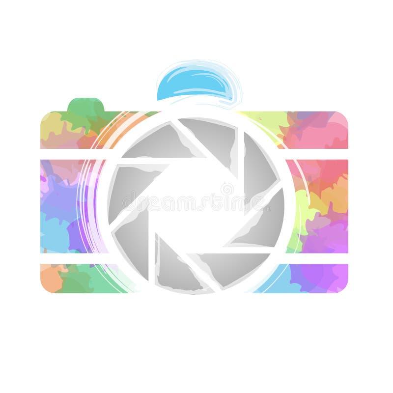 Любовник покрашенной фотографии радуги камеры фотографии акварели иллюстрация штока