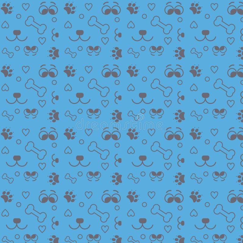 Любовник собаки картины на голубом векторе бесплатная иллюстрация