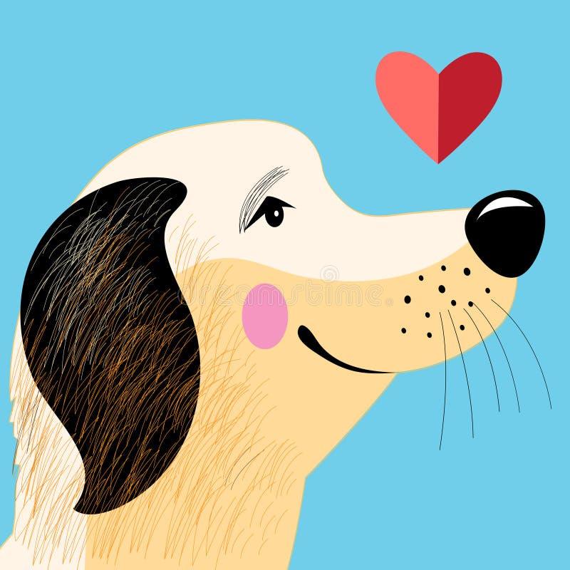Любовник собаки портрета бесплатная иллюстрация