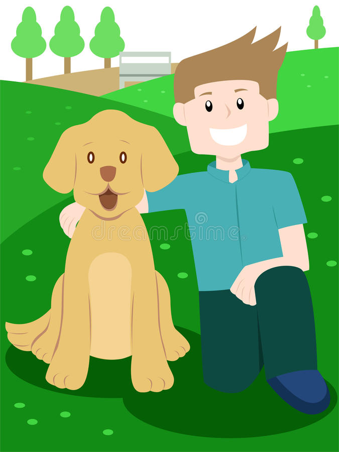 Любовник собаки бесплатная иллюстрация