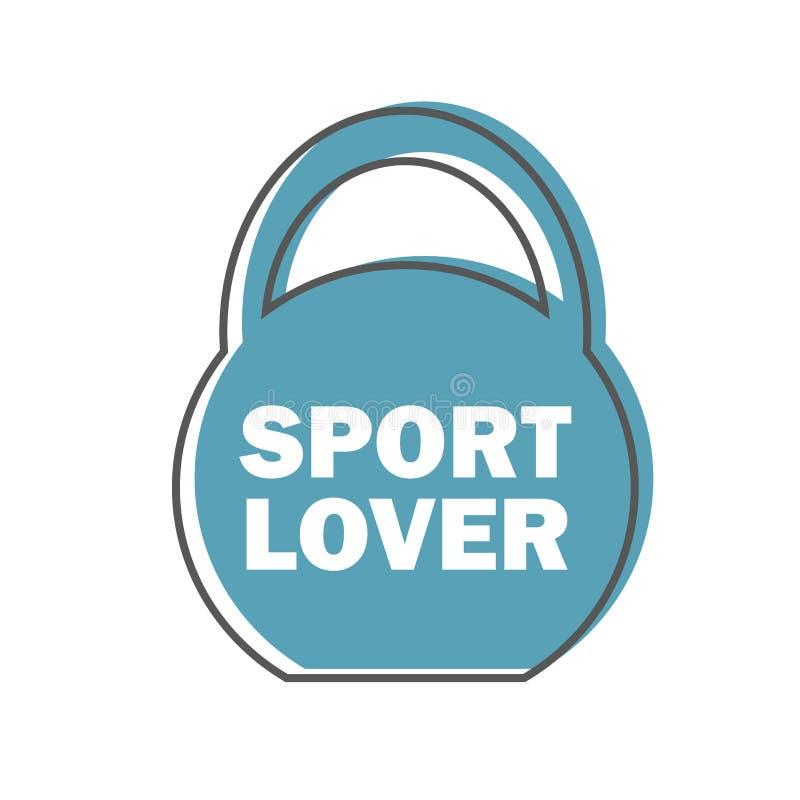 Любовник спорта - элемент дизайна вектора штемпеля цитаты мотивировки разминки спортзала бесплатная иллюстрация