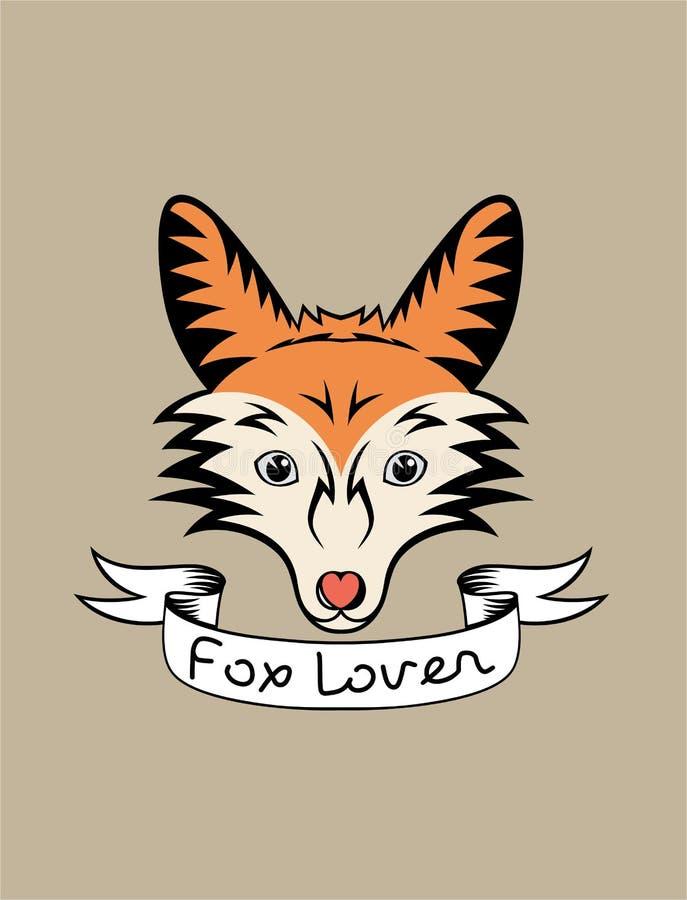 Любовник Fox иллюстрация вектора