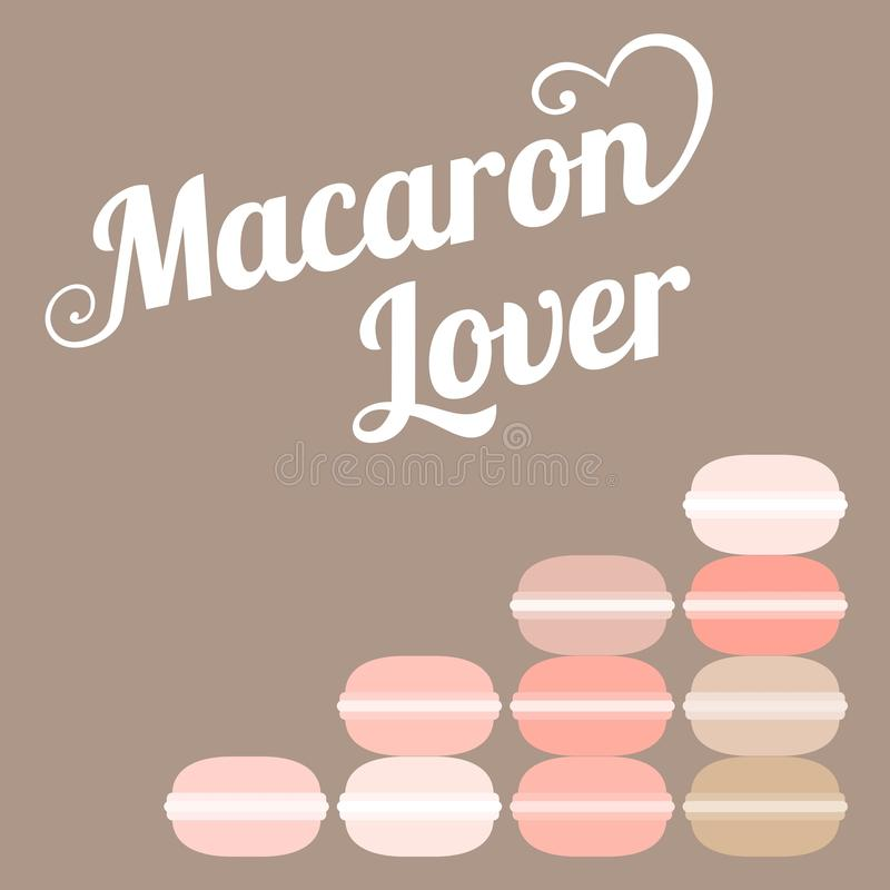Любовник macaroon оформления бесплатная иллюстрация