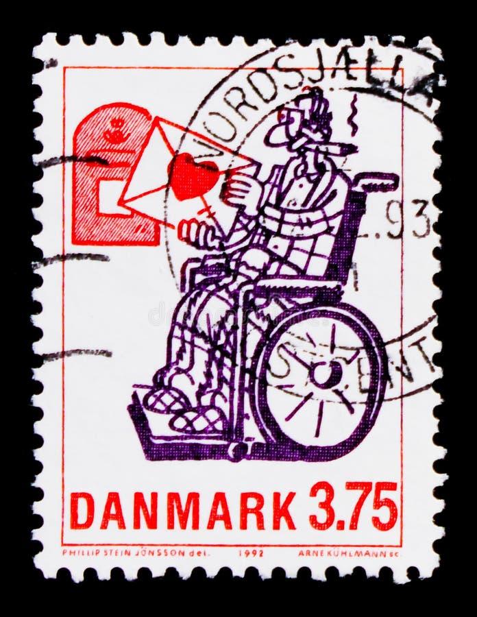 ` Любовного письма `, serie персонажей из мультфильма, около 1992 стоковое изображение