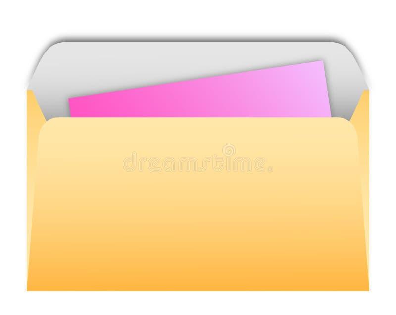 Любовные письма в конвертах иллюстрация вектора
