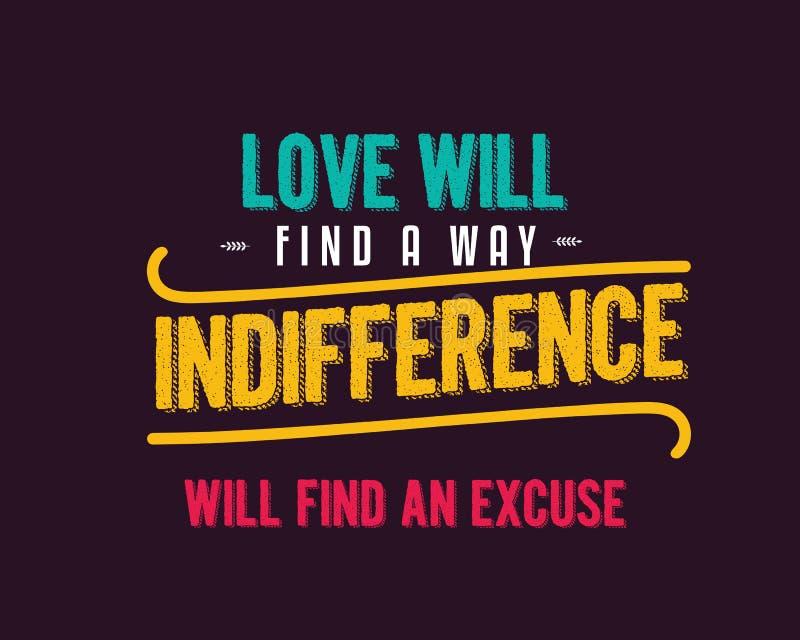 Любовь найдет равнодушие пути найдет отговорка бесплатная иллюстрация
