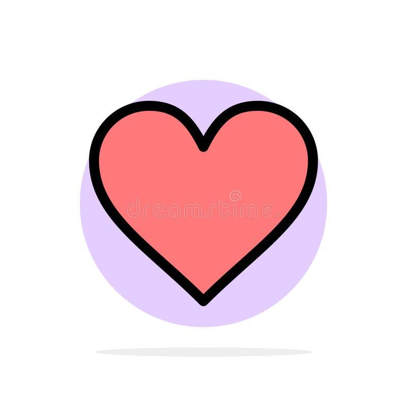 Любовь, Instagram, интерфейс, как значок цвета абстрактной предпосылки круга плоский бесплатная иллюстрация