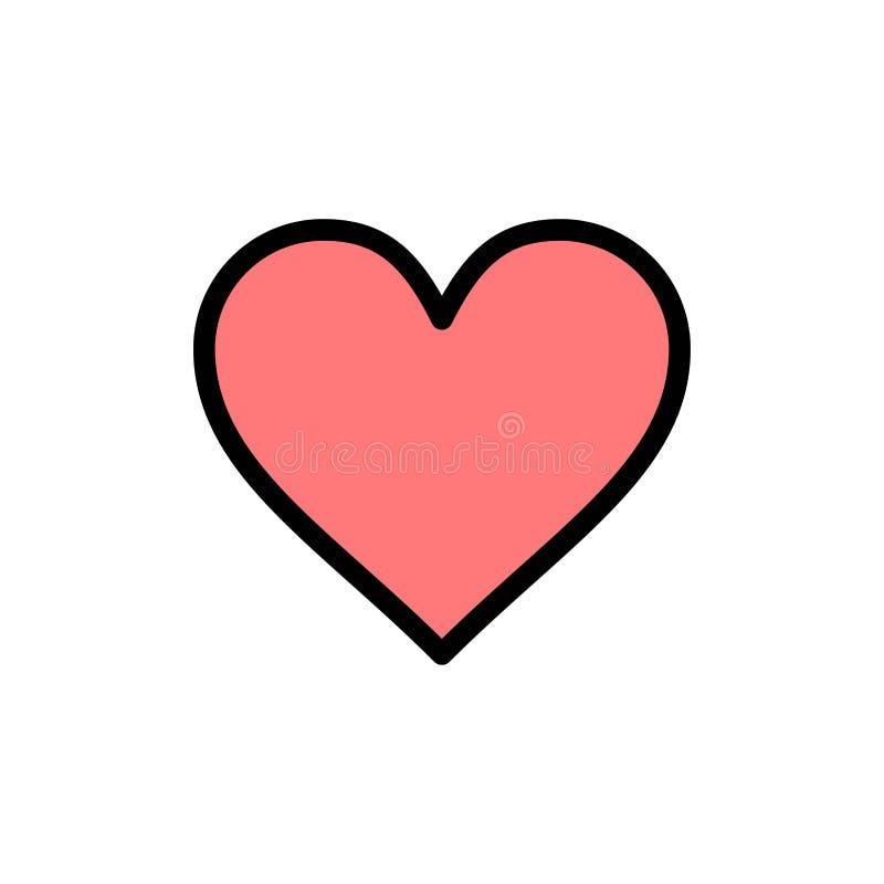 Любовь, Instagram, интерфейс, как плоский значок цвета Шаблон знамени значка вектора бесплатная иллюстрация