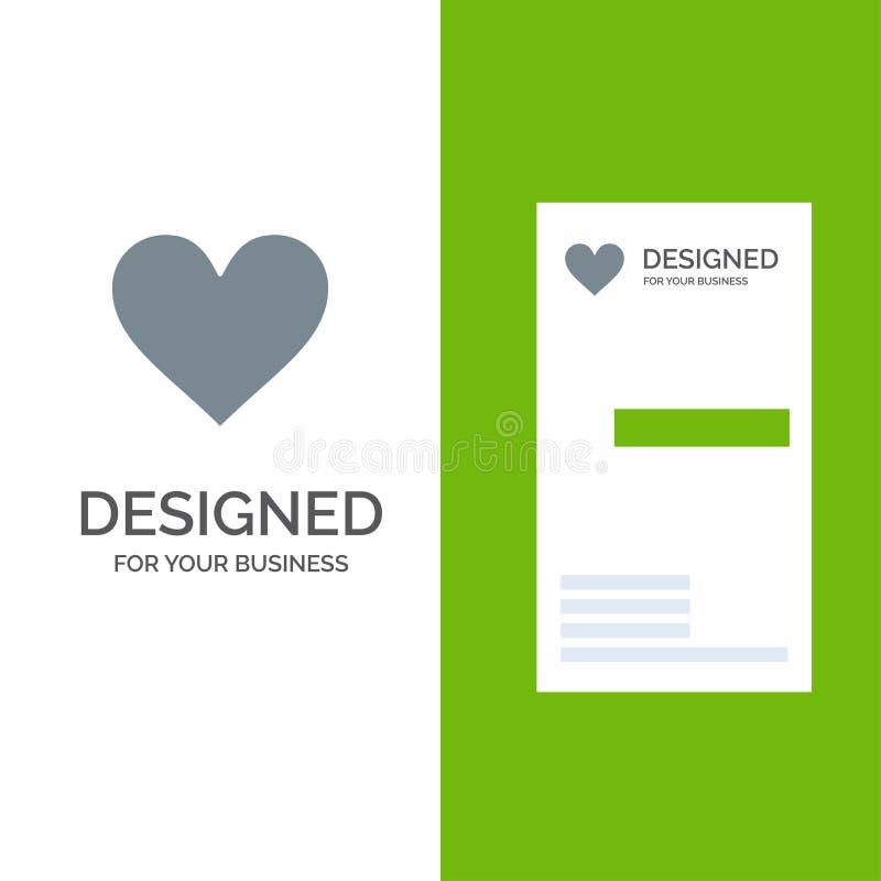 Любовь, Instagram, интерфейс, как серые дизайн логотипа и шаблон визитной карточки иллюстрация вектора