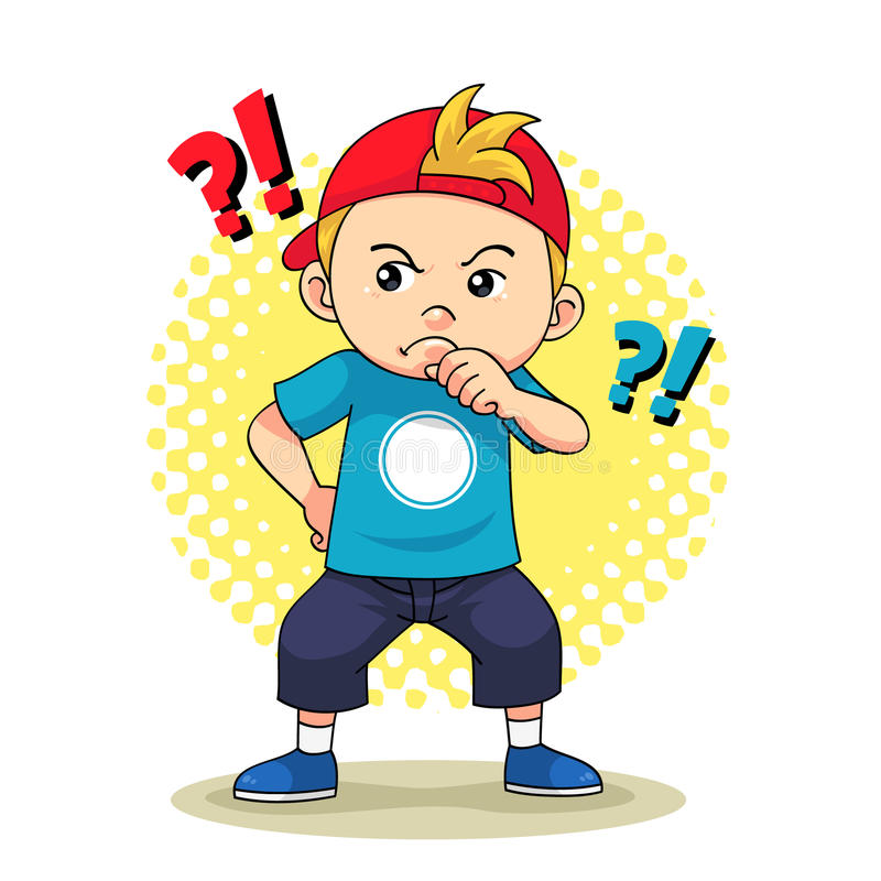 Любознательный мальчик иллюстрация штока