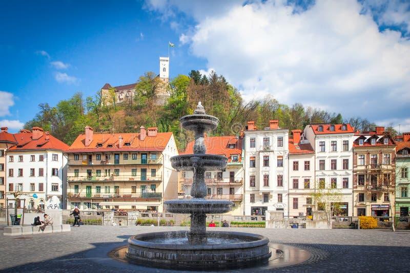 Любляна, столица Словении, Европы стоковые фотографии rf