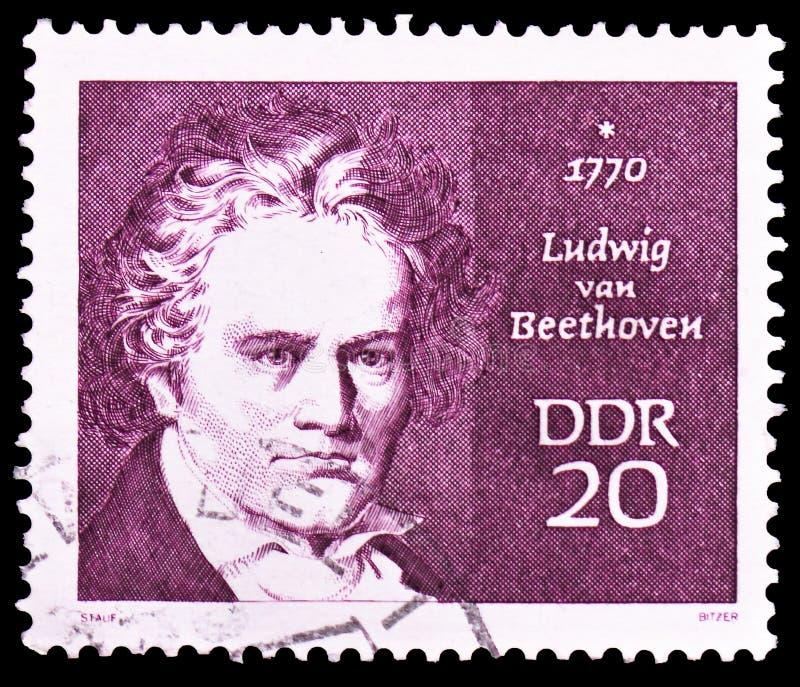 Людвиг ван Бетховен 1770†«1827, известное serie людей, около 1970 стоковые изображения rf