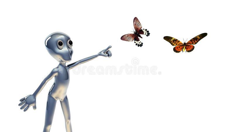 люди бабочки 3d малые иллюстрация штока