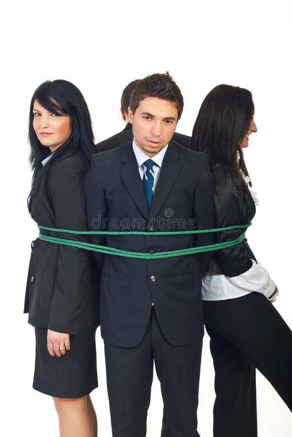 люди бизнес-группы связанные вверх стоковые фотографии rf