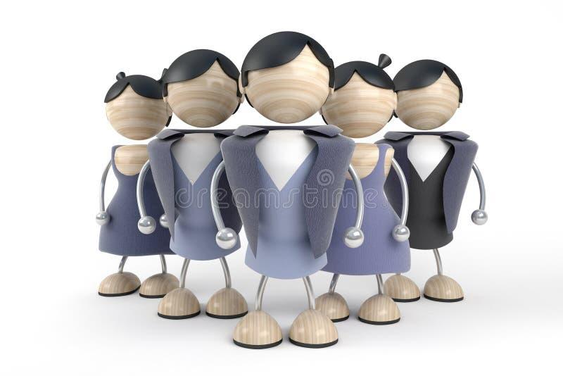 люди бизнес-группы иллюстрация штока