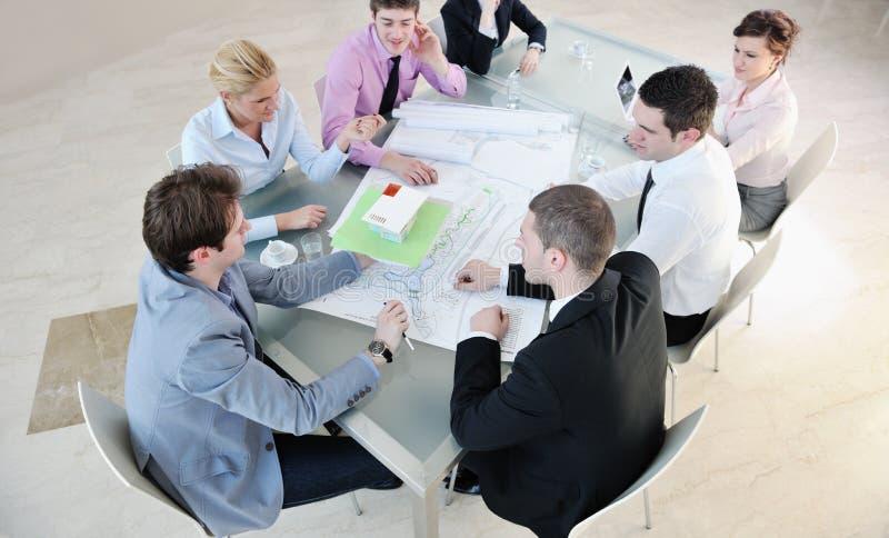 люди встречи бизнес-группы стоковое изображение rf
