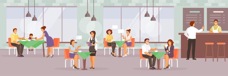 Люди в векторе кафа бесплатная иллюстрация
