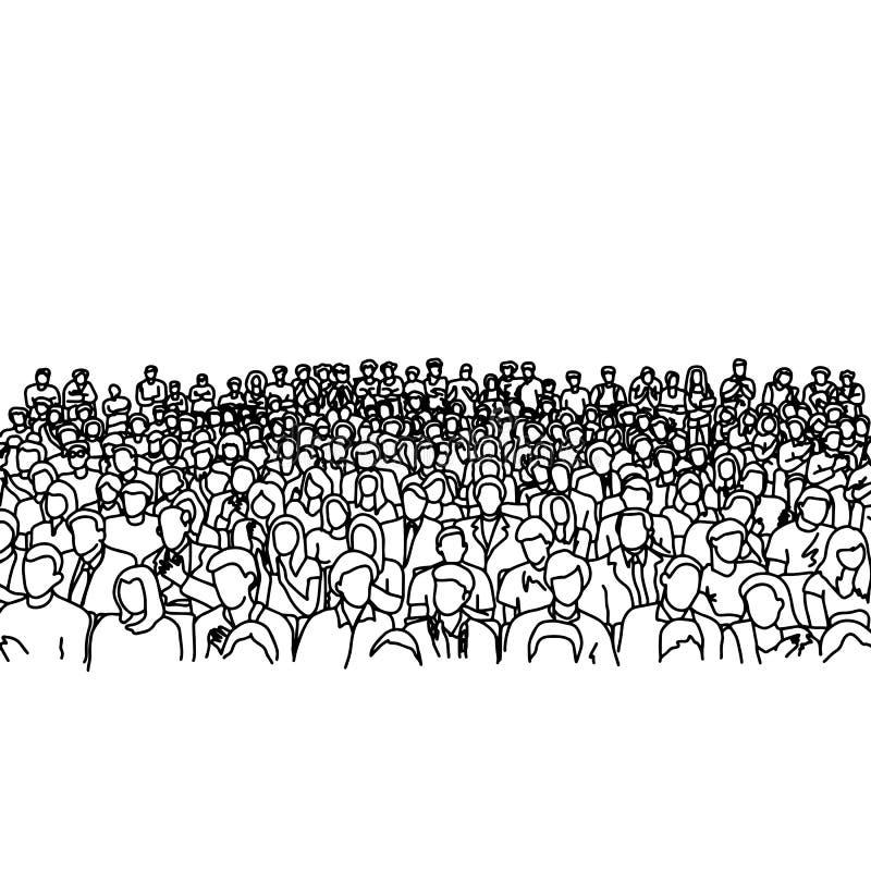 много людей картинки карандашом каждый