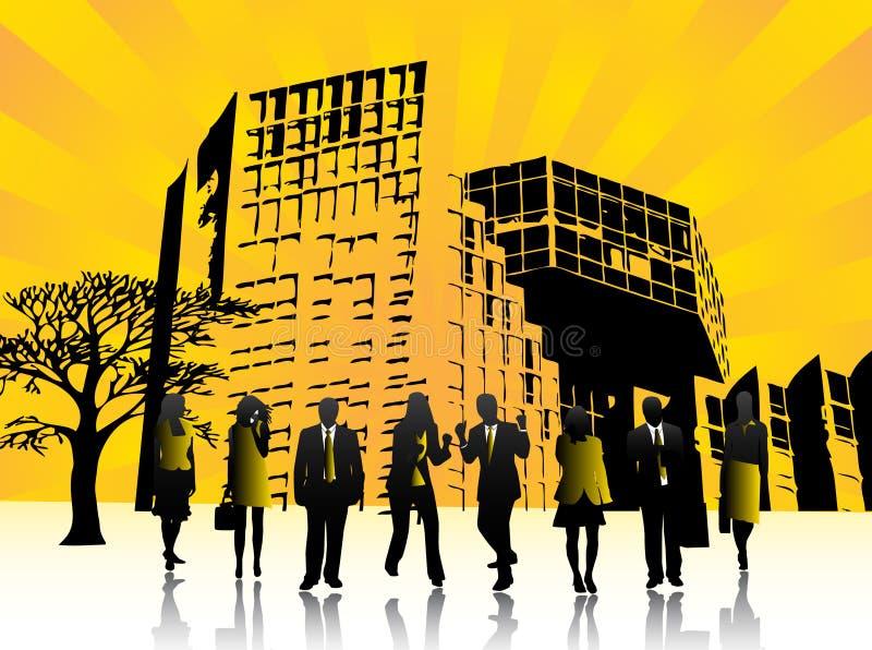 люди города бесплатная иллюстрация