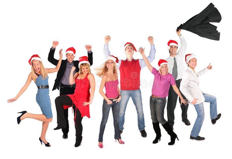 люди группы рождества счастливые стоковая фотография rf