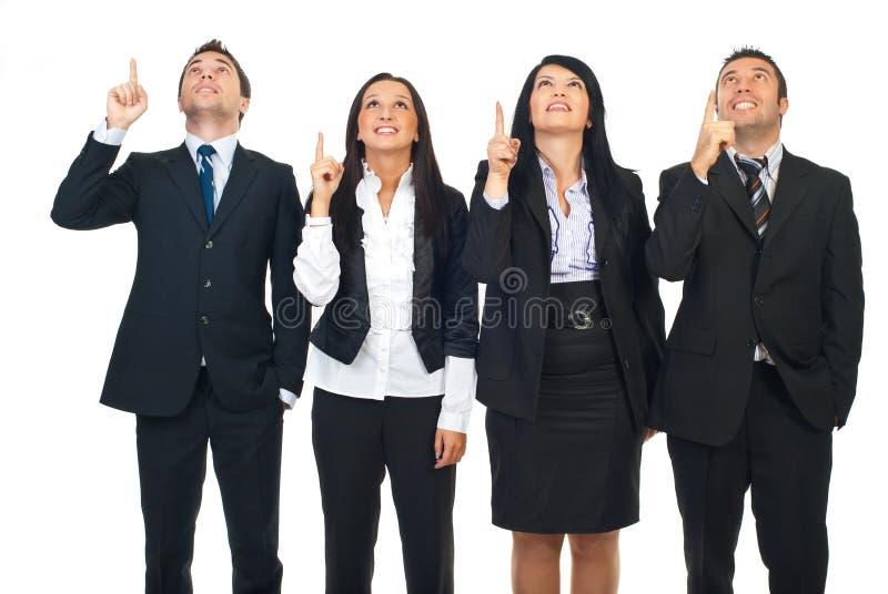люди группы указывая вверх стоковая фотография