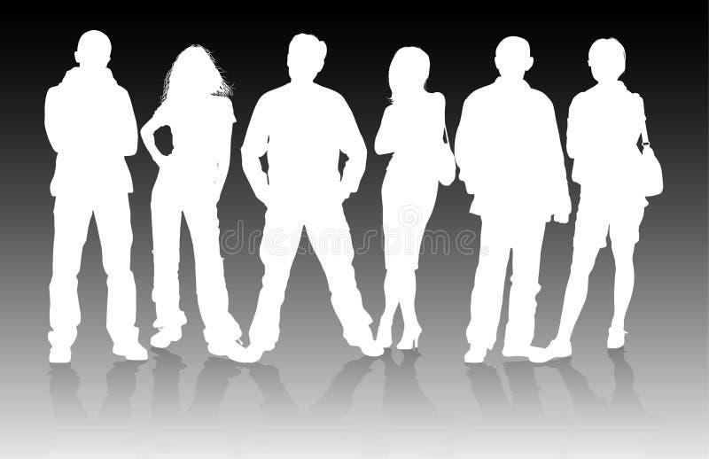 люди группы иллюстрация вектора