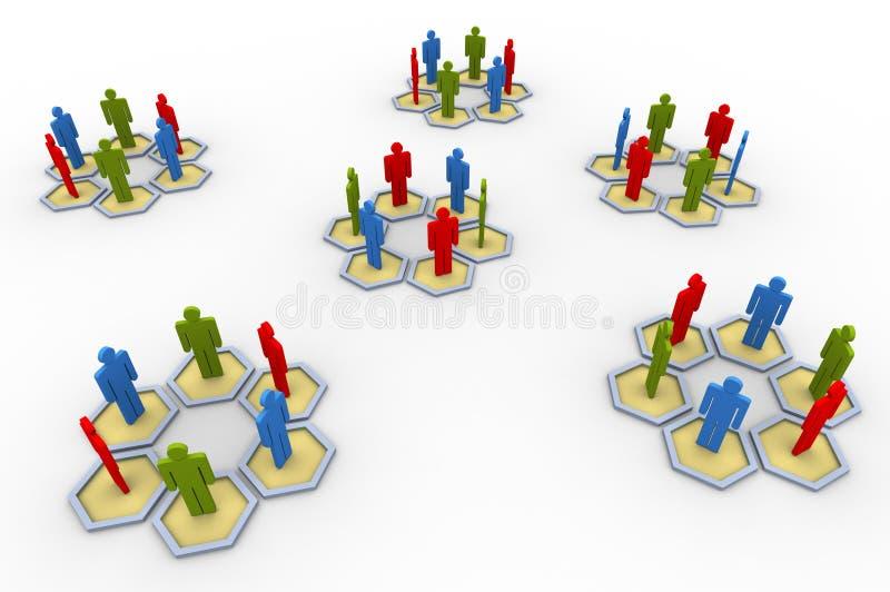 люди группы 3d иллюстрация штока