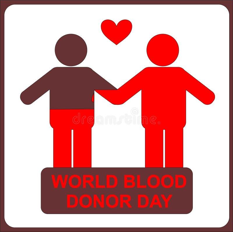 Люди, даритель и получатель, день донора мира бесплатная иллюстрация