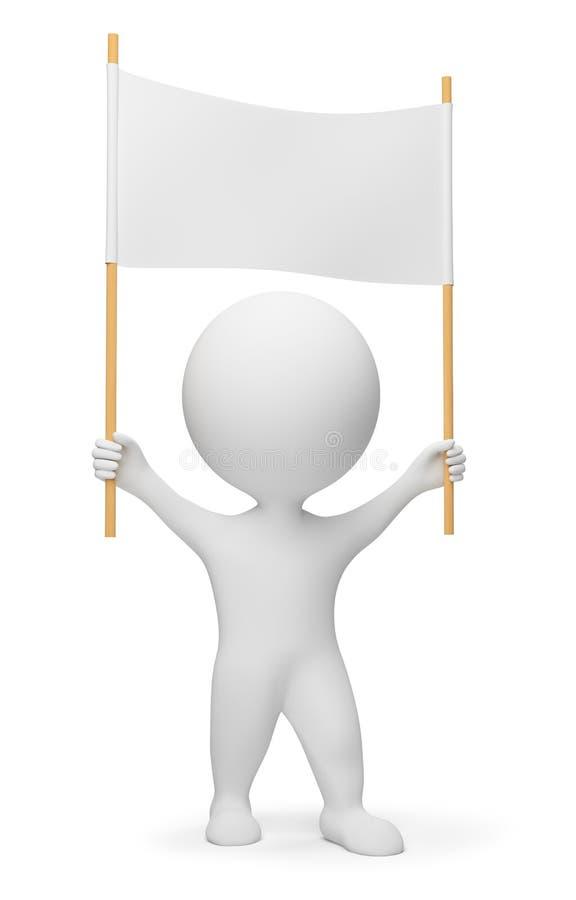 люди демонстранта 3d малые бесплатная иллюстрация