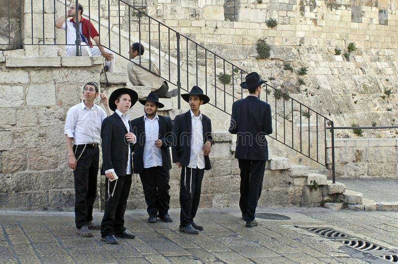 люди Иерусалима еврейские молодые стоковые изображения