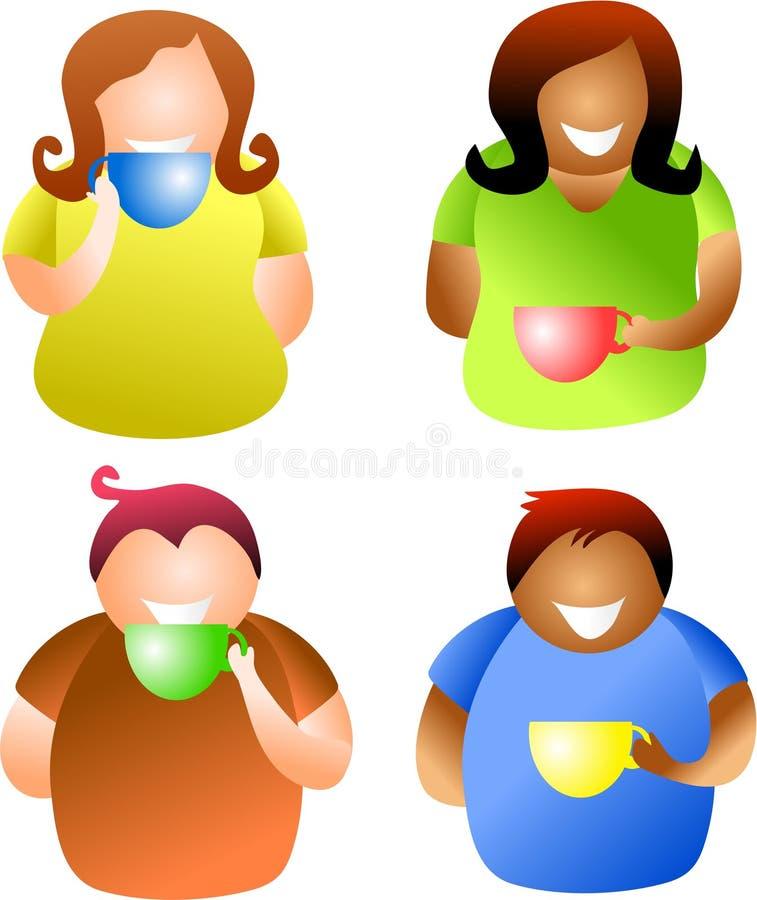 люди кофе пролома бесплатная иллюстрация