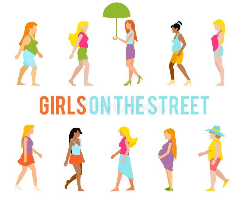 Люди на улице бесплатная иллюстрация