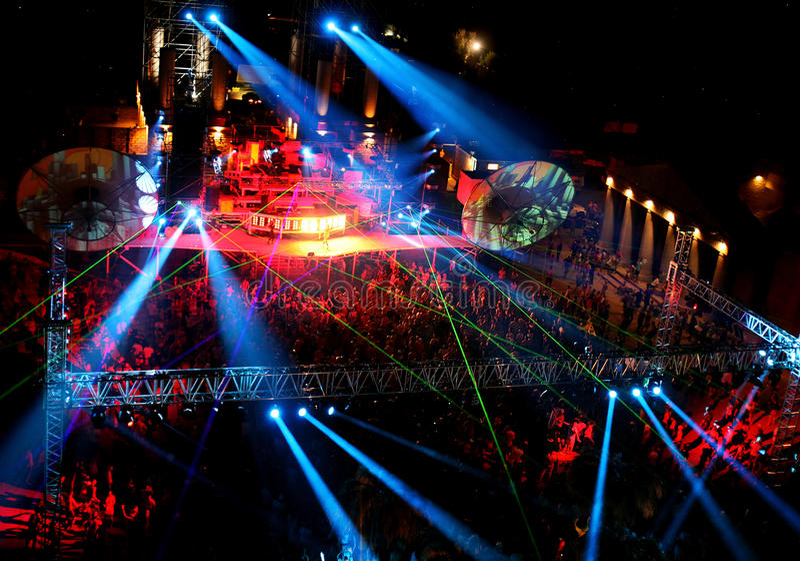люди ночи согласия напольные стоковое изображение rf