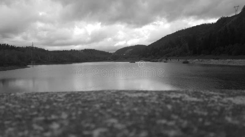люди озера рыболовства шлюпки стоковые изображения rf