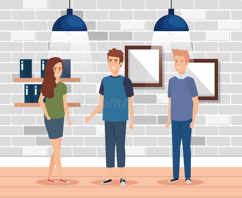 люди офиса бизнес-группы бесплатная иллюстрация